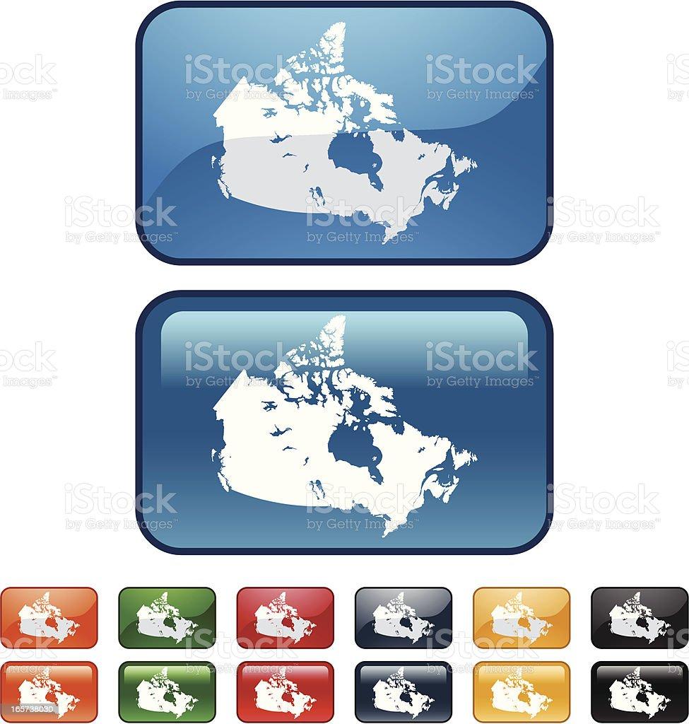 Canada Map icon royalty-free stock vector art