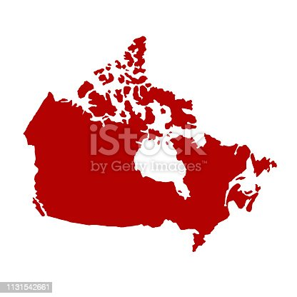vector illustration of Canada map