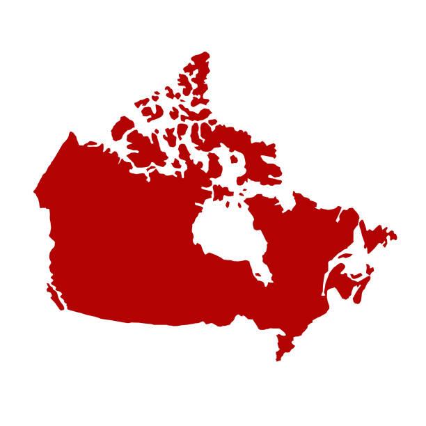mapa kanady - kanada stock illustrations