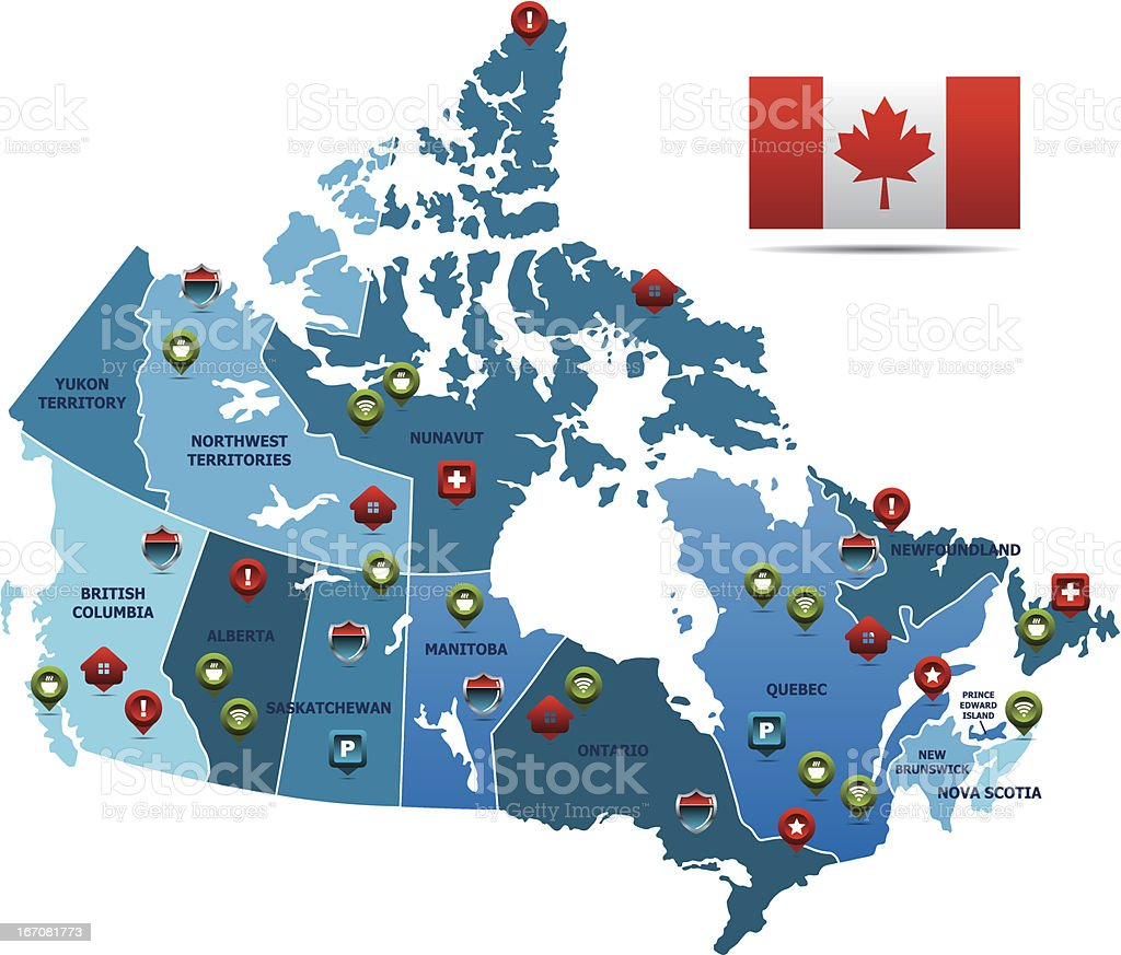 Canada Map royalty-free canada map stock vector art & more images of business travel