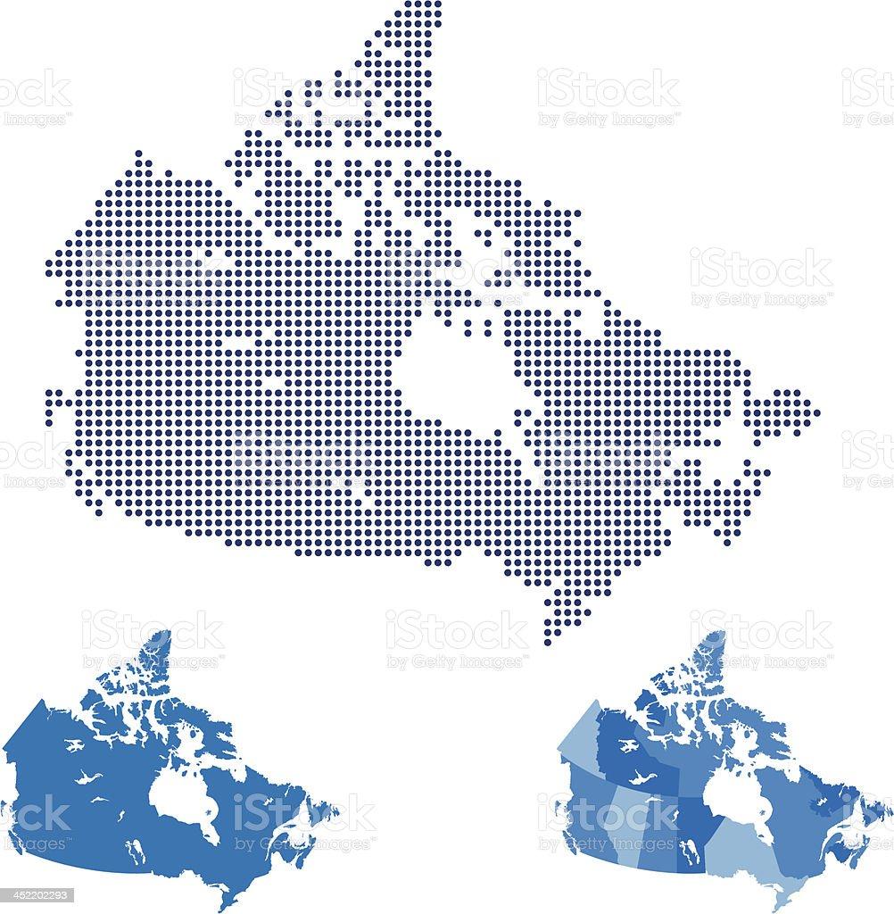 Canada Map royalty-free stock vector art