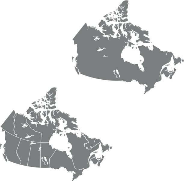 Canada map – artystyczna grafika wektorowa