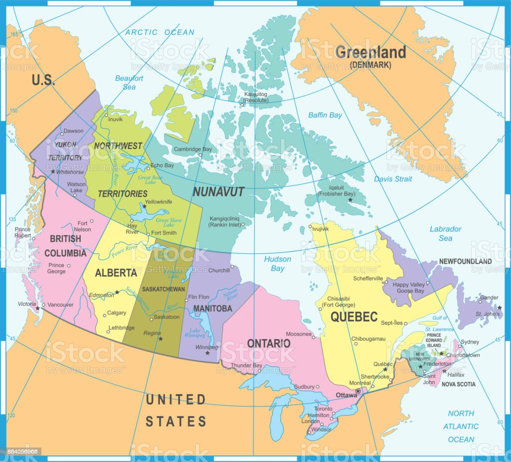 Canada Map - Vector Illustration royalty-free canada map vector illustration stock vector art & more images of calgary