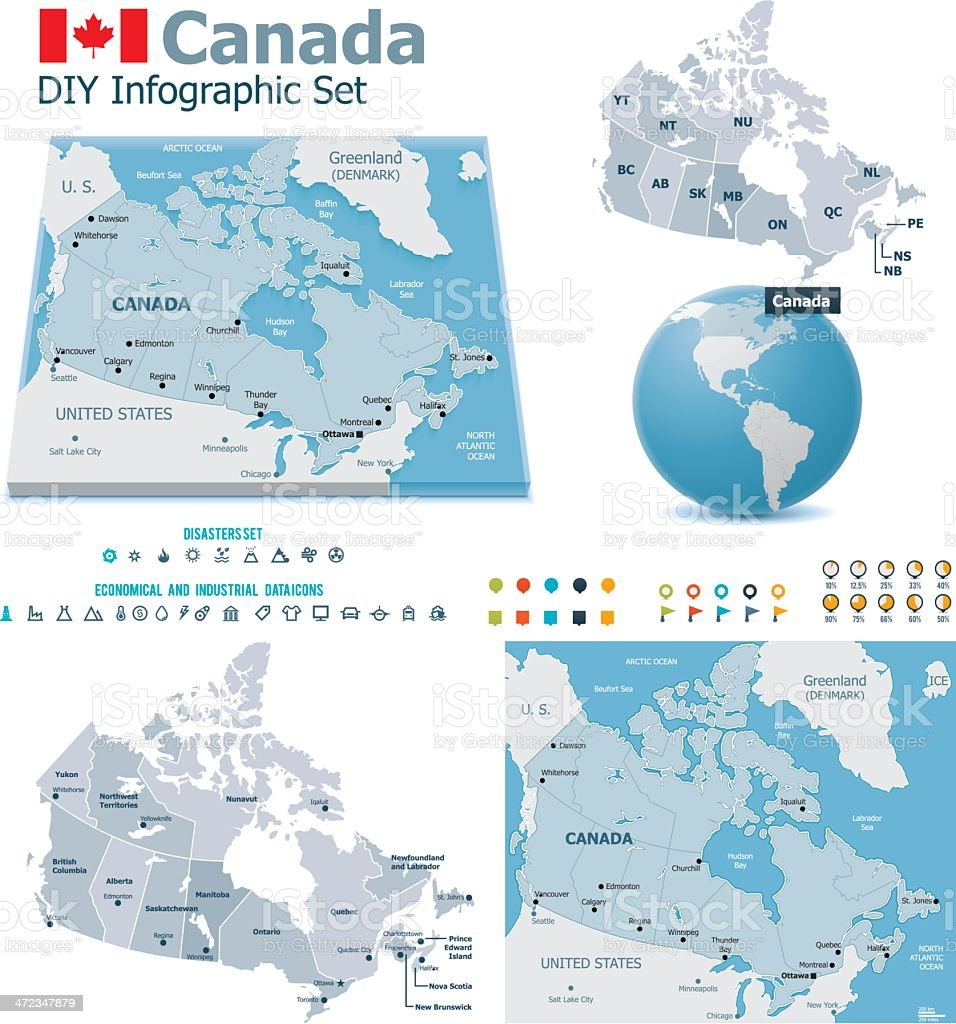 Canada maps with markers royalty-free canada maps with markers stock vector art & more images of accidents and disasters