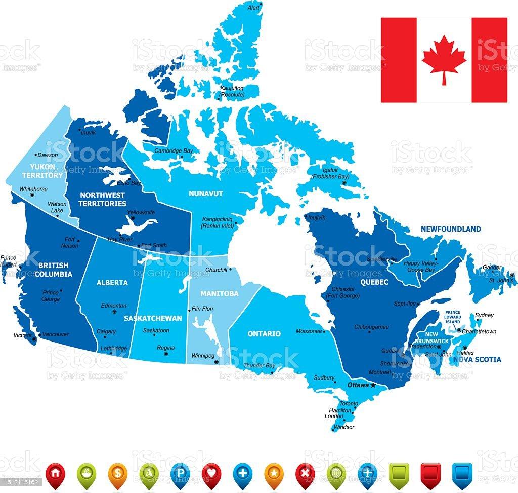 Canada Map-Vector Illustration vector art illustration