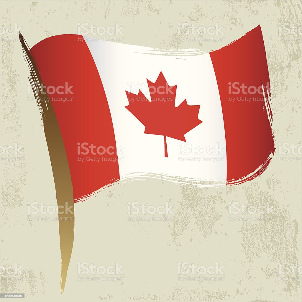 Canada National Flag royalty-free stock vector art