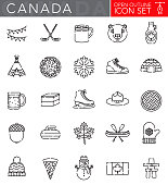 Canada Open Outline Icon Set