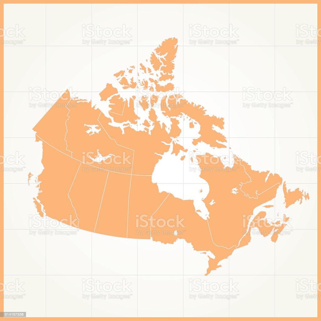 canada orange map on grid background royalty free canada orange map on grid background stock