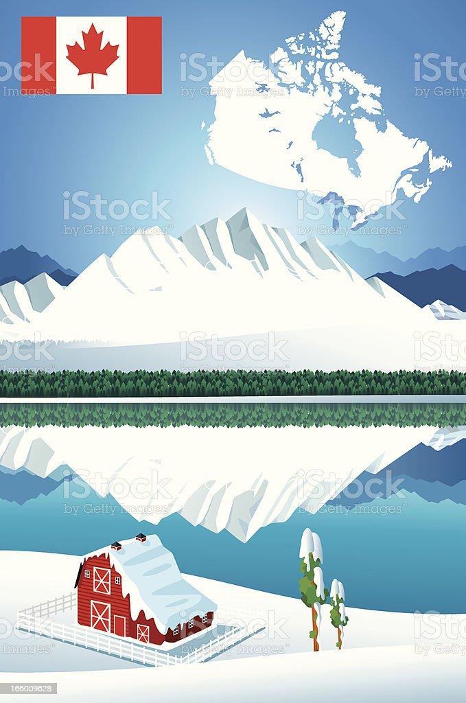 Canada panorama vector art illustration