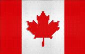 Canada Pixelated Vector Flag