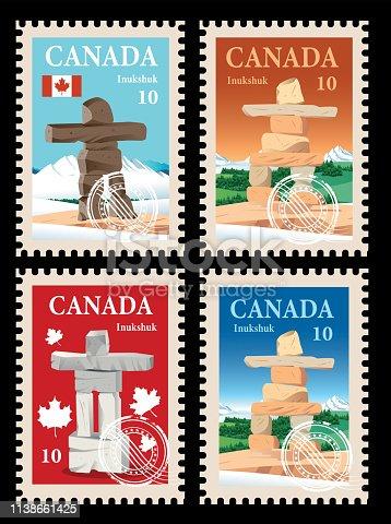 Vector Canada Postage, Inuksuk