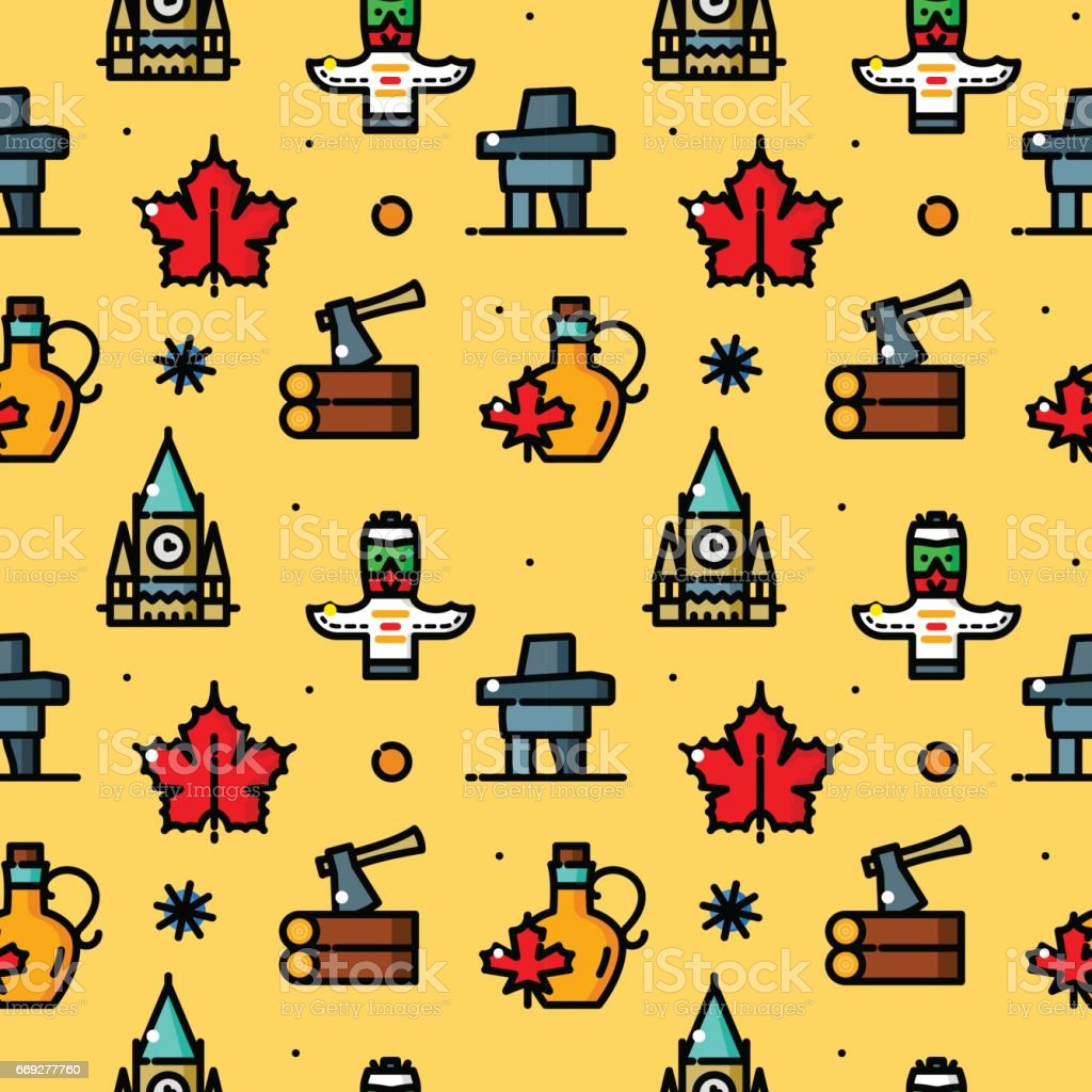 Canada seamless pattern vector illustration vector art illustration