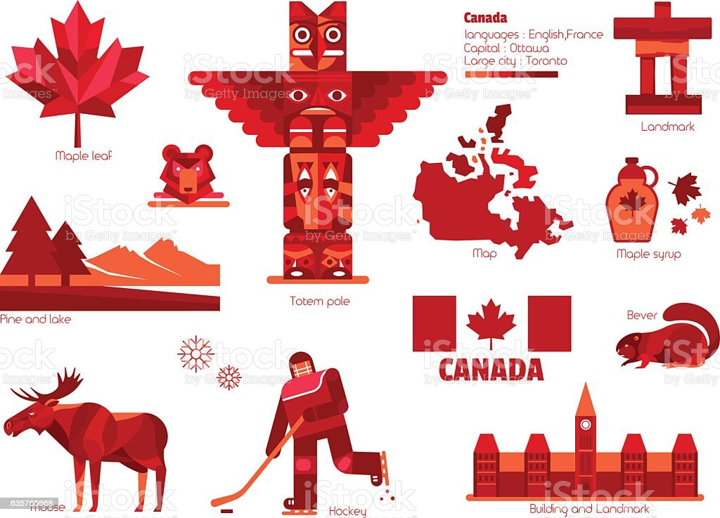 Canada sign and symbol, Info-graphic elements. vector art illustration