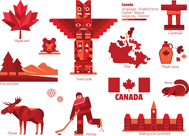 Canada sign and symbol, Info-graphic elements. Canada sign and symbol, Info-graphic elements. toronto stock illustrations
