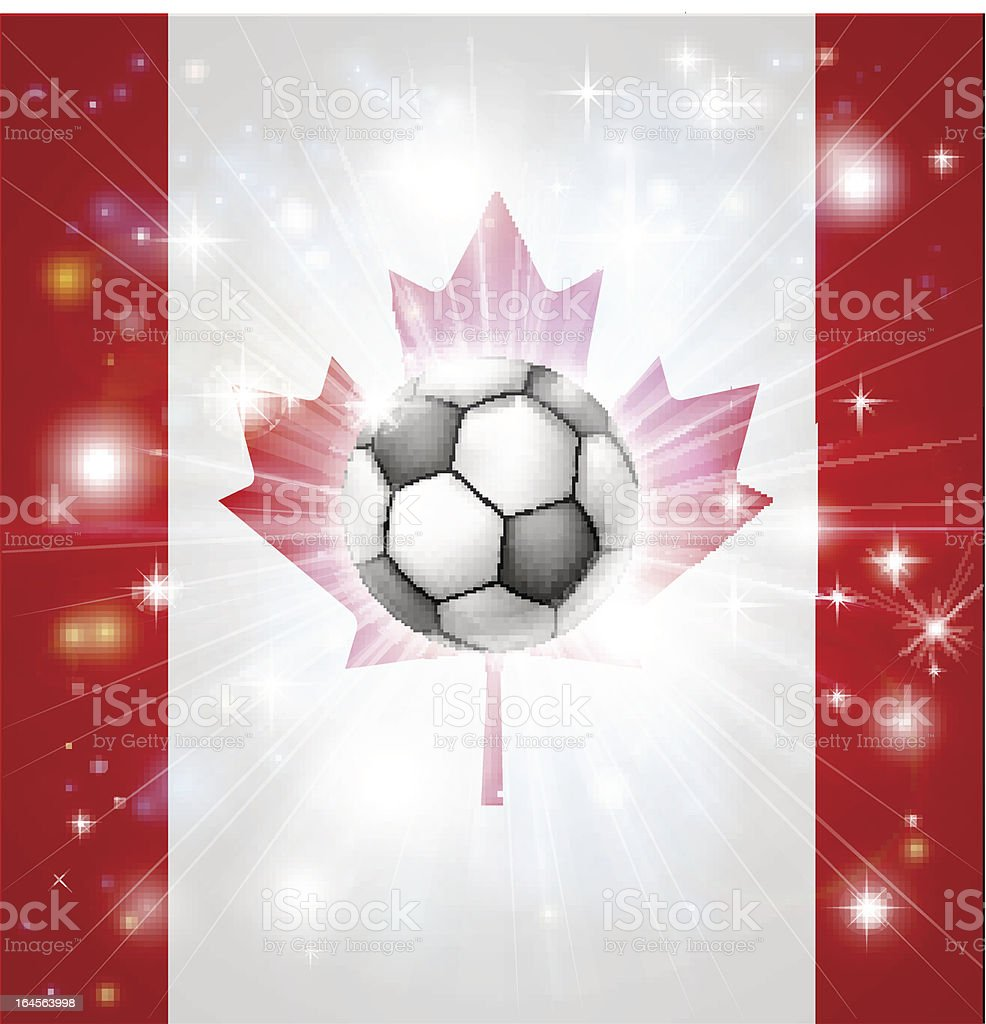 Canada soccer flag royalty-free stock vector art