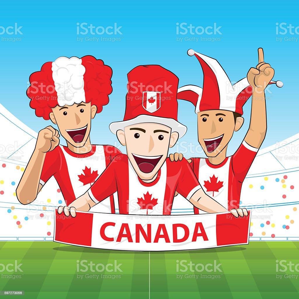 Canada Sport Fan Vector royalty-free canada sport fan vector stock illustration - download image now