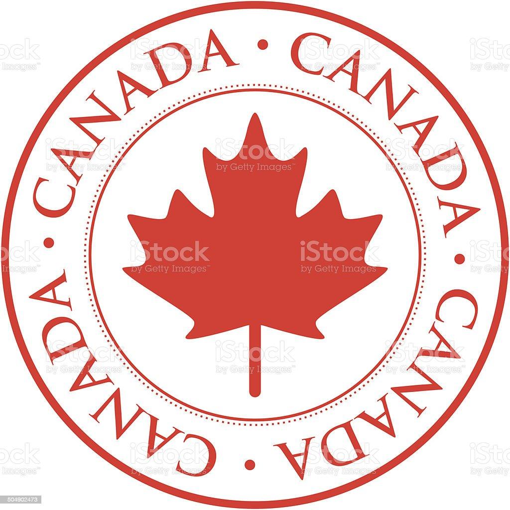 Kanada-Briefmarke – Vektorgrafik