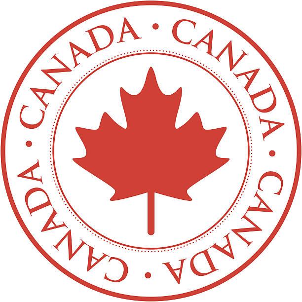 Canada stamp vector art illustration