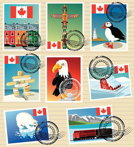 ilustrações, clipart, desenhos animados e ícones de selos canadá - viagem ao canadá