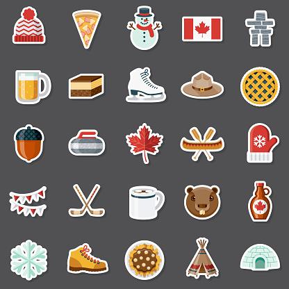 Canada Sticker Set
