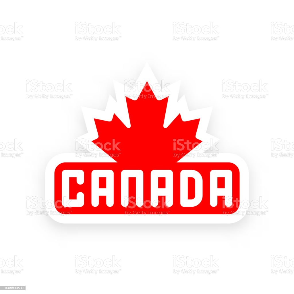 Canada Symbol With Canadian Red Maple Leaf Stock Vector Art More