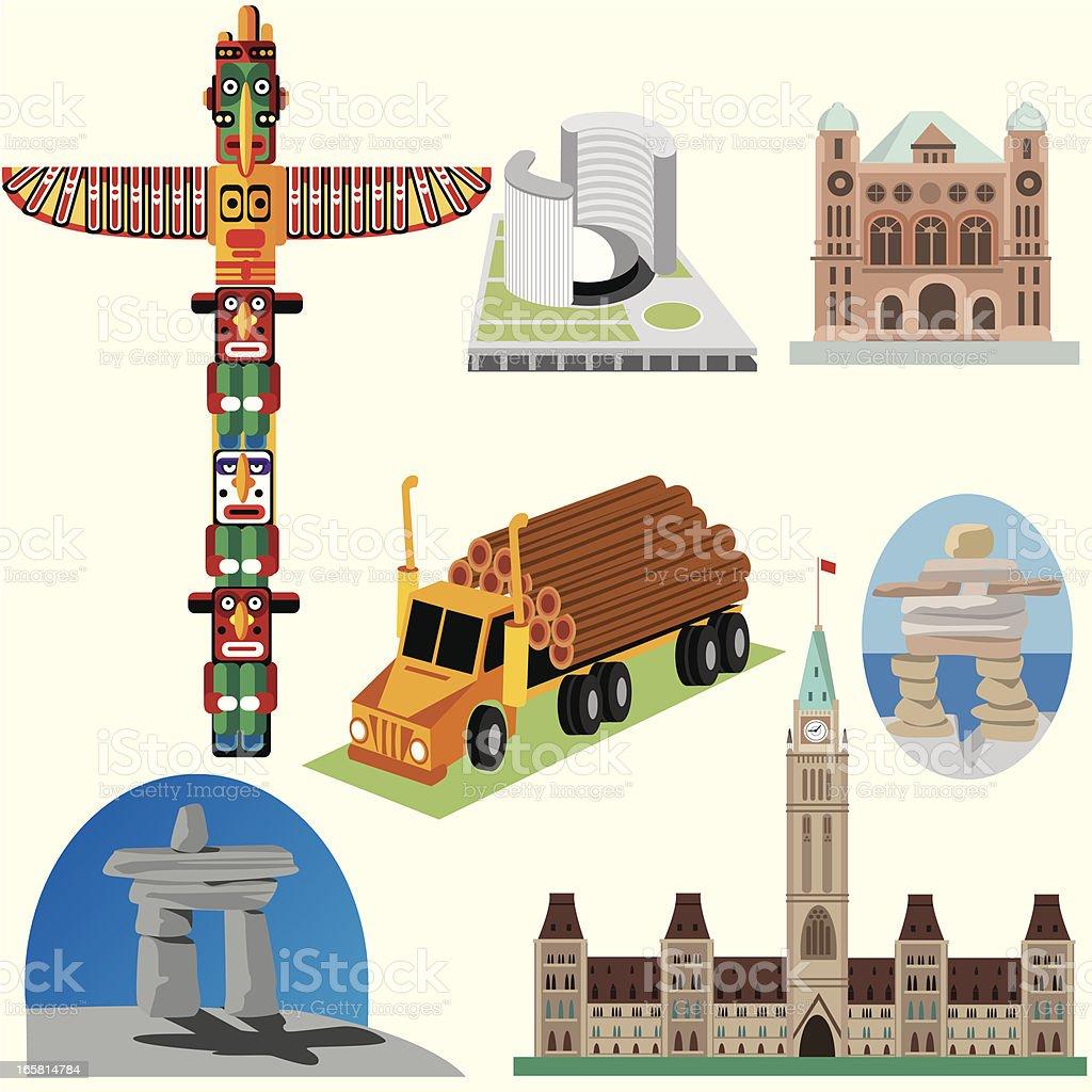 Canada Symbols Stock Vector Art More Images Of Alberta 165814784