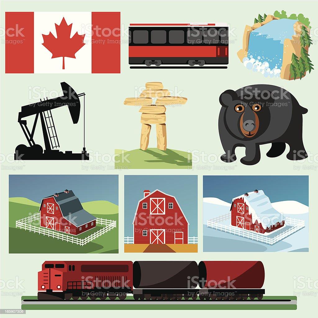 Canada Symbols Stock Vector Art More Images Of Alberta 165907306