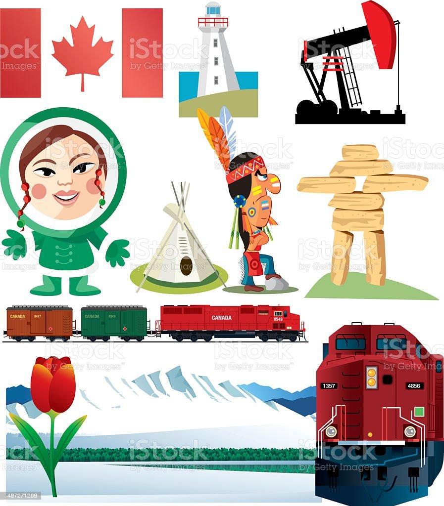 Canada Symbols Stock Vector Art More Images Of Alberta 487271269