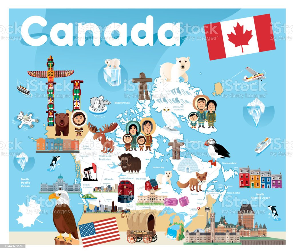 Canada Travel Map Stock Illustration - Download Image Now - iStock on