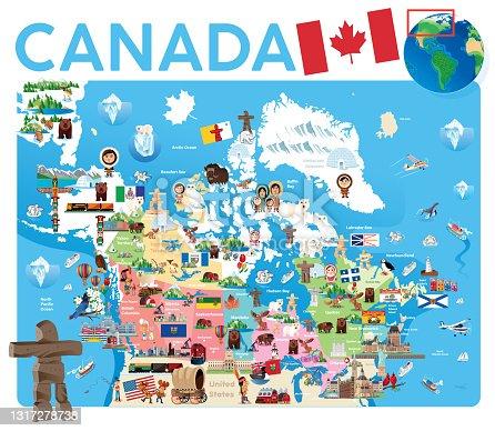 istock Canada Travel Map 1317278738