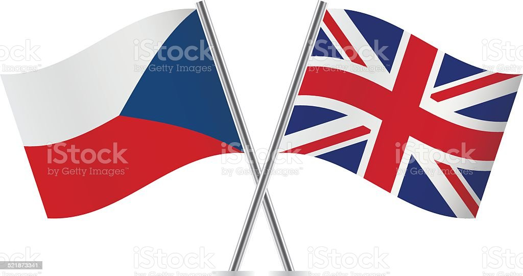 Canadian and Czech flags. Vector. vector art illustration