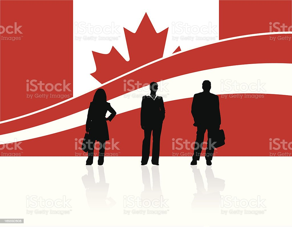 Canadian Business Team royalty-free stock vector art