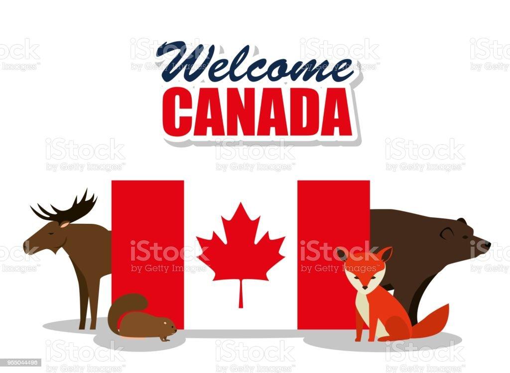 Ilustración de Grupo De Cultura Canadiense De Animales y más banco ...