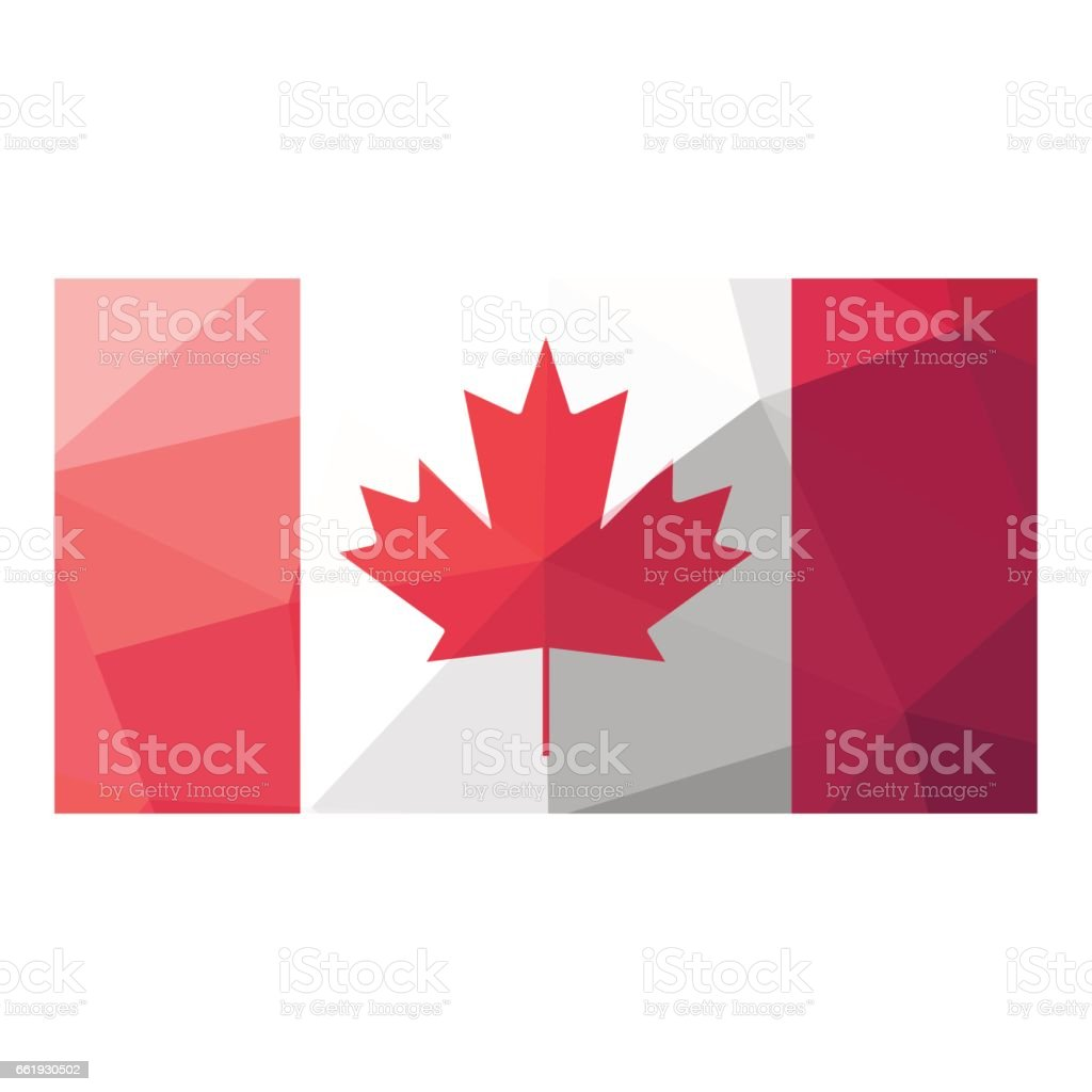 Canadian flag geometric design. royalty-free canadian flag geometric design stock vector art & more images of abstract