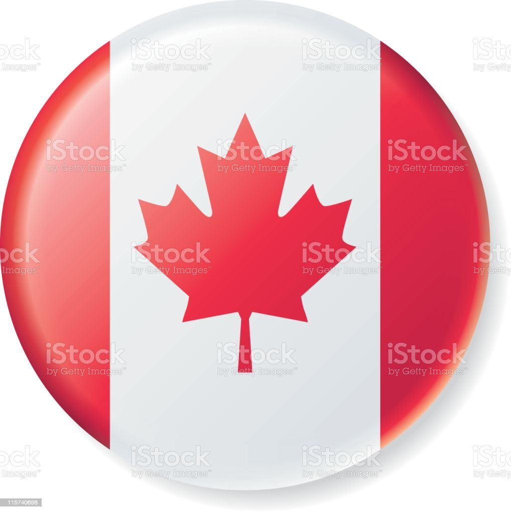 Canadian Flag Satin Button royalty-free stock vector art