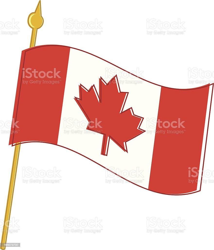 Canadian Flag royalty-free stock vector art