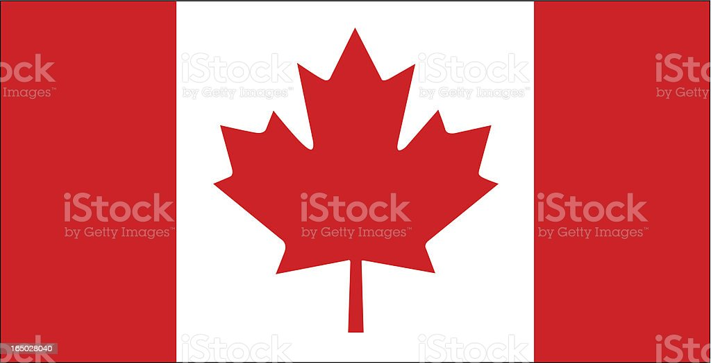 Canadian Flag Vector vector art illustration