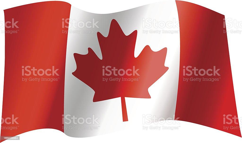 Canadian Flag Waving (Vector) royalty-free canadian flag waving stock vector art & more images of canada