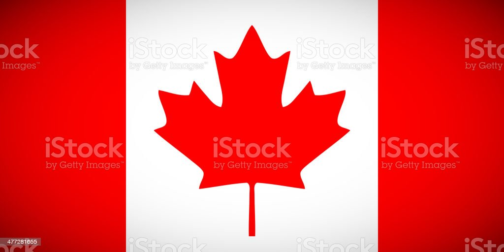 Canadian flag with correct proportions and color scheme vector art illustration