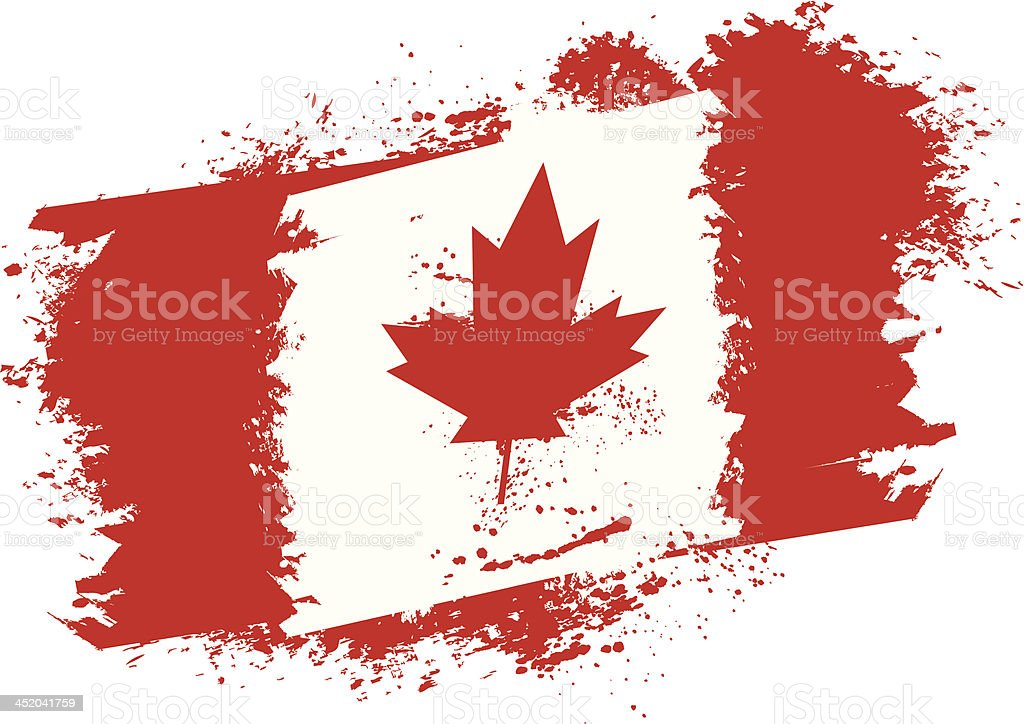 Canadian grunge flag royalty-free stock vector art