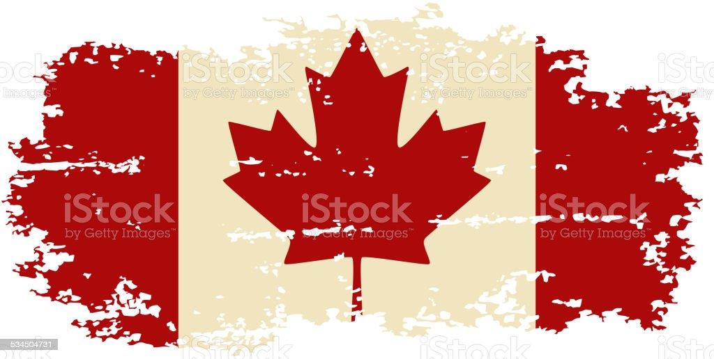 Canadian grunge flag. Vector illustration. vector art illustration