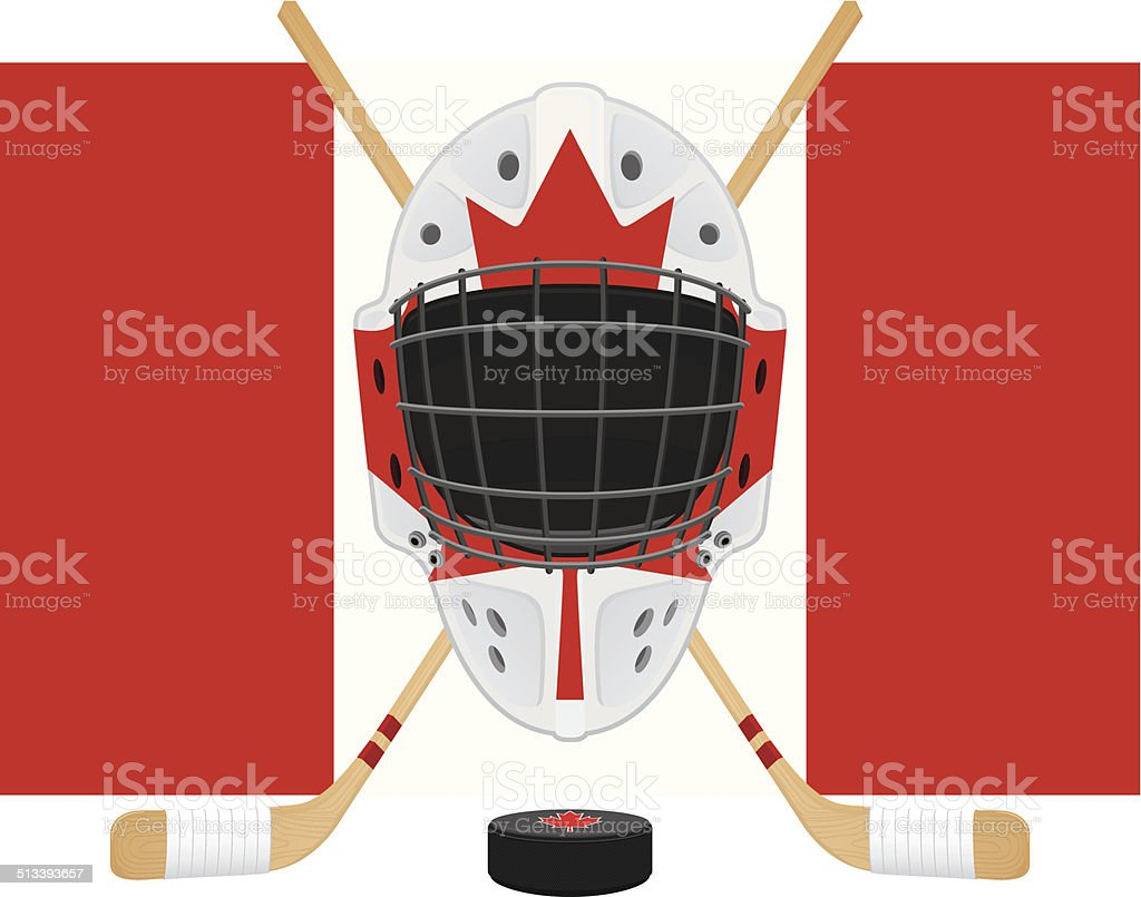 Canadian Hockey Gear Stock Vector Art More Images Of Canada Istock