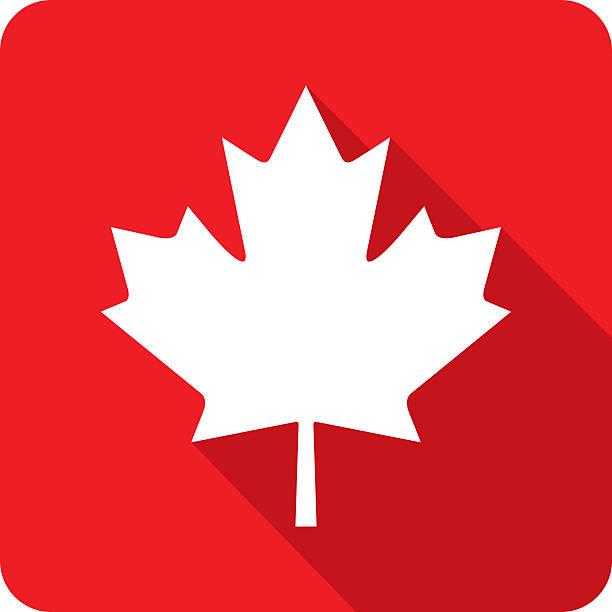 Kanadische Maple Leaf-Symbol Silhouette – Vektorgrafik