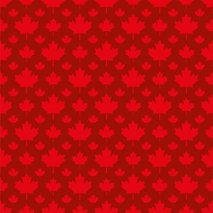 Canadian maple leaf symbol seamless pattern - Illustration
