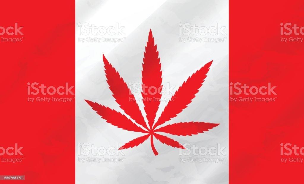 Kanadische Marihuana Flagge – Vektorgrafik