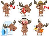 Canadian Moose Canada Mammal Animal Species Icon Culture