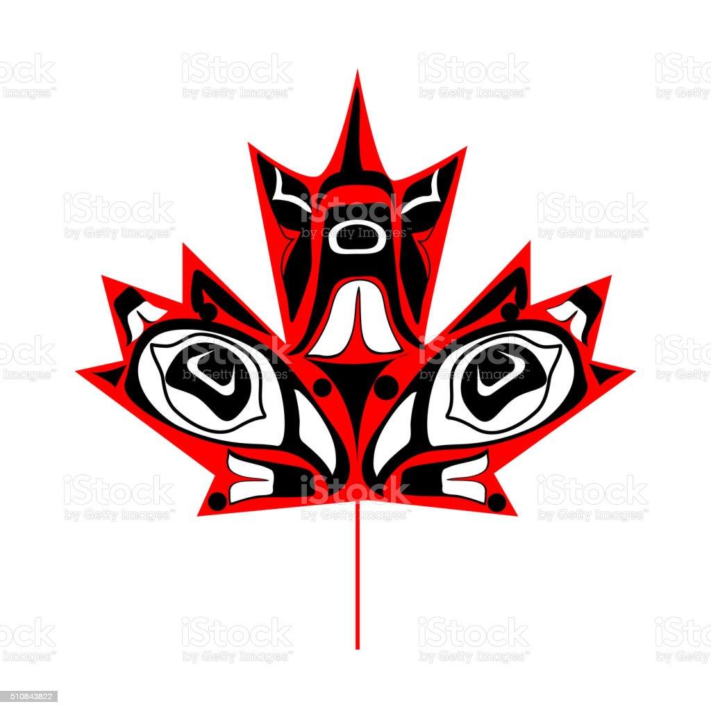 canadian native maple leaf stock vector art 510843822 istock
