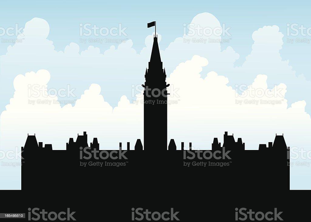 Canadian Parliament vector art illustration