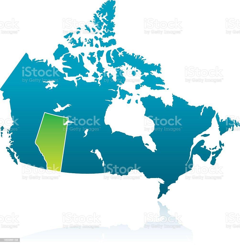 Canadian Province: Alberta royalty-free stock vector art
