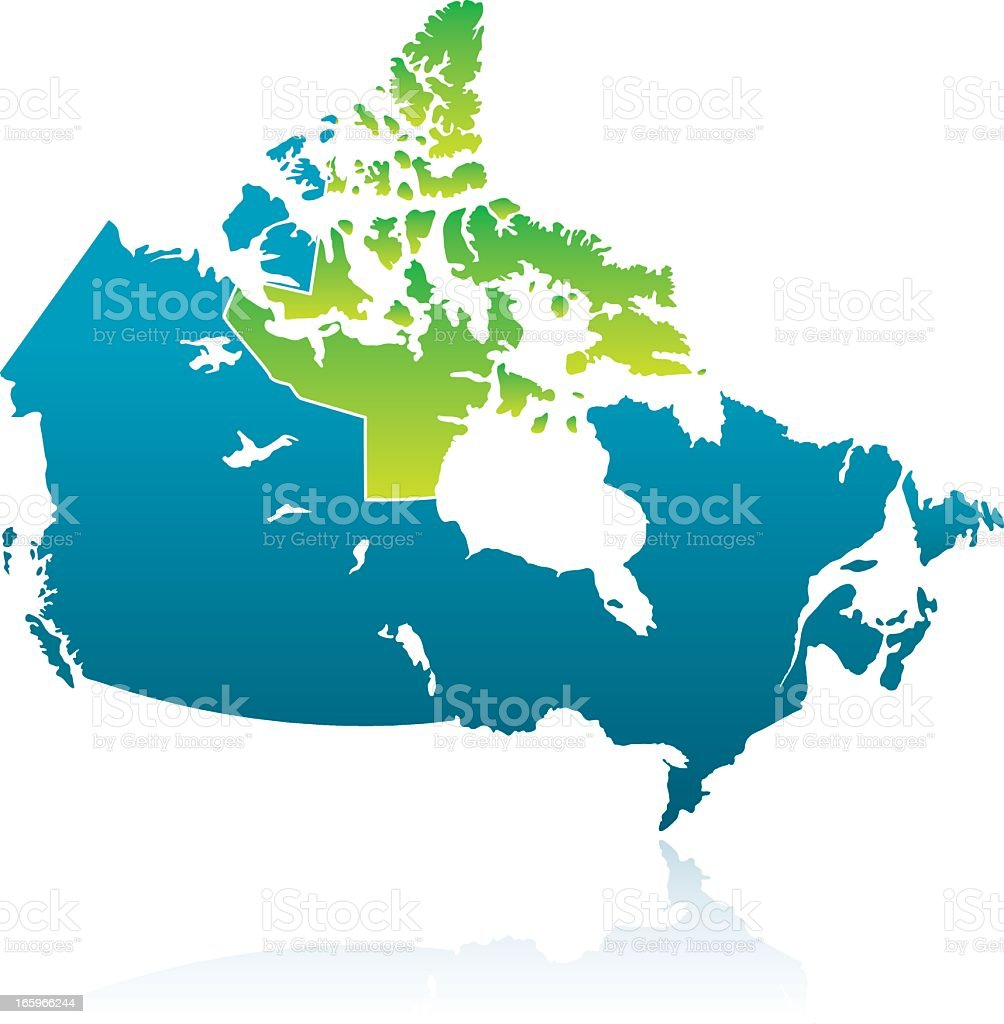 Canadian Province: Nunavut vector art illustration